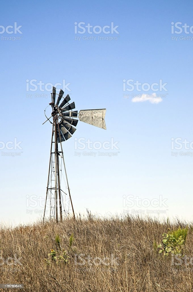 Worn out ancient windmill royalty-free stock photo