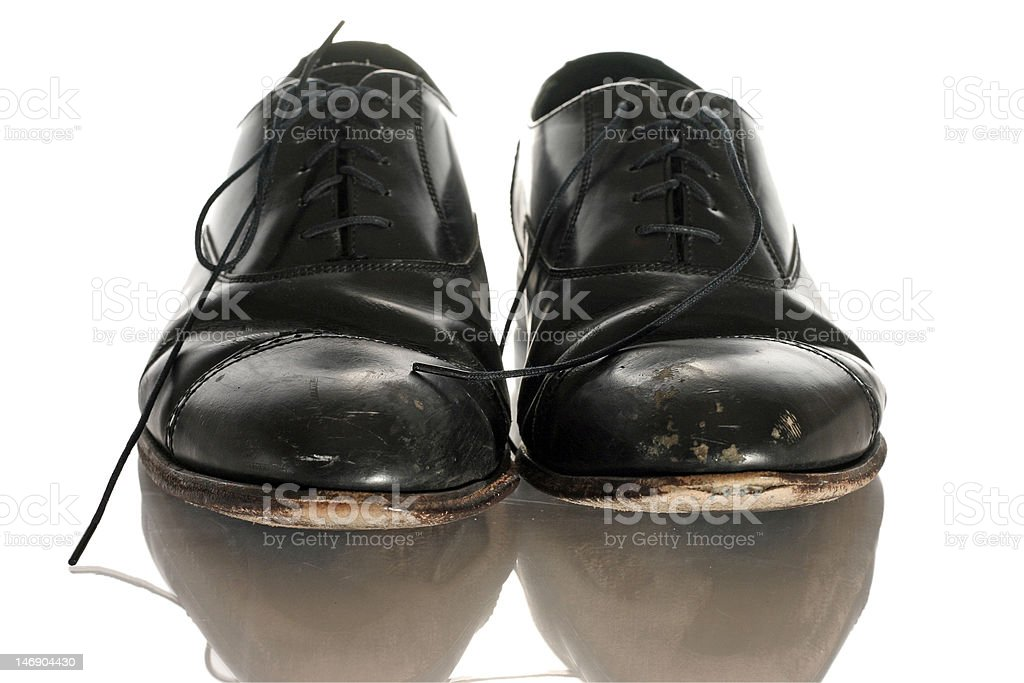 Worn OUt Dress Shoes royalty-free stock photo
