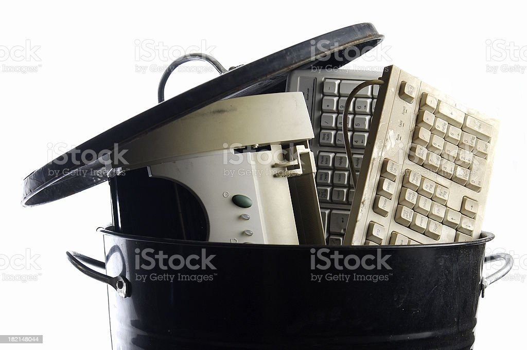 Worn out hardware stock photo