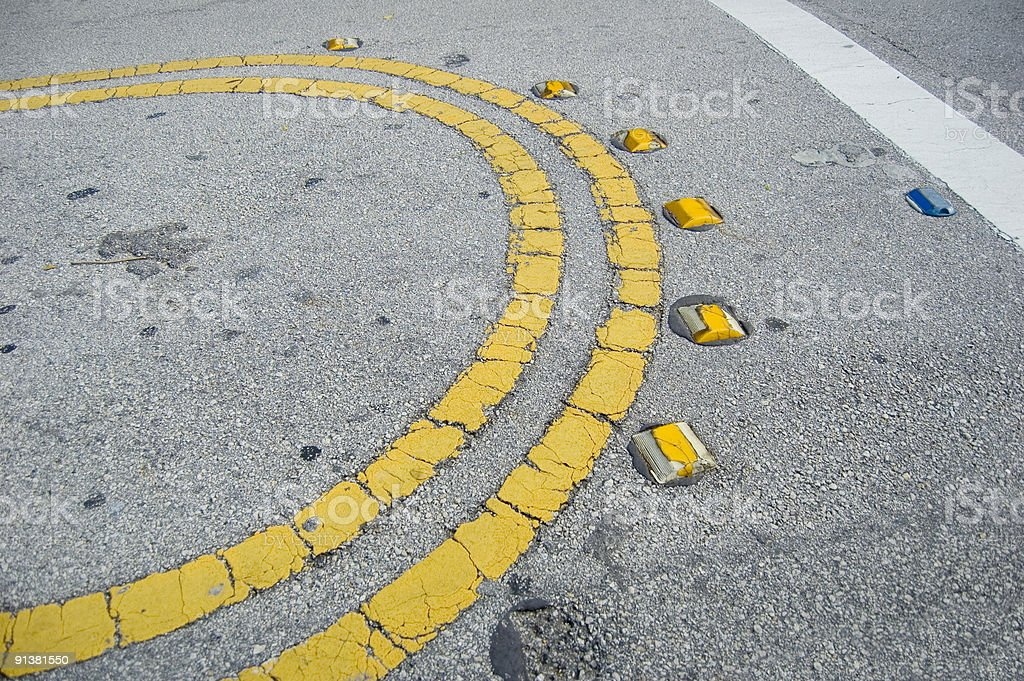 Worn out median stock photo