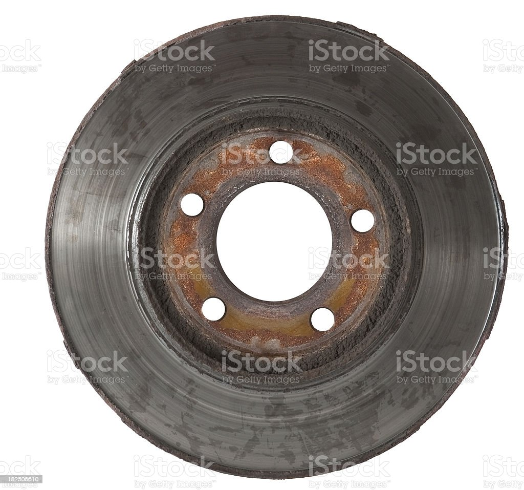 worn out rotor full front stock photo