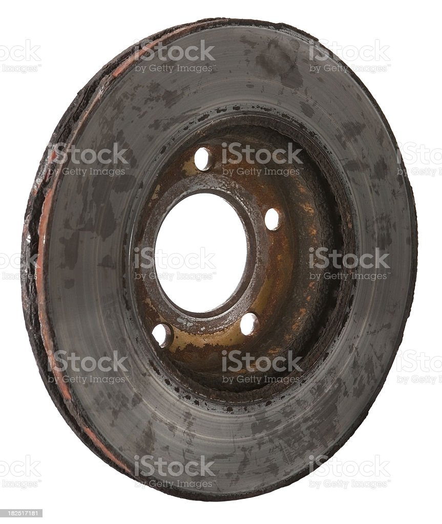 worn out rotor stock photo