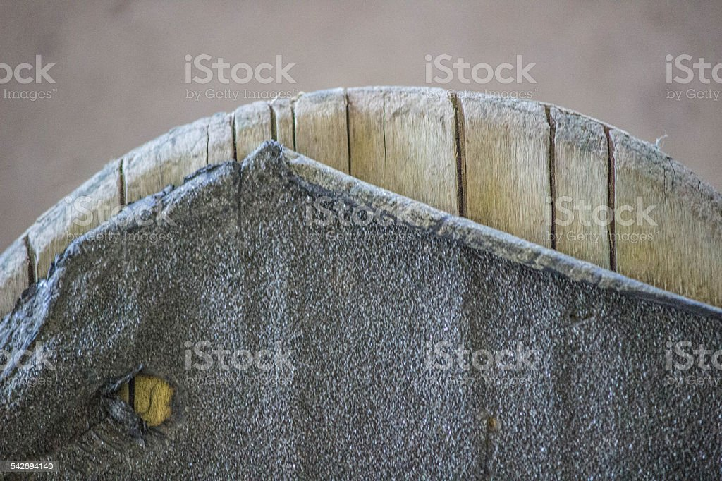 Worn out Skateboard Tail stock photo