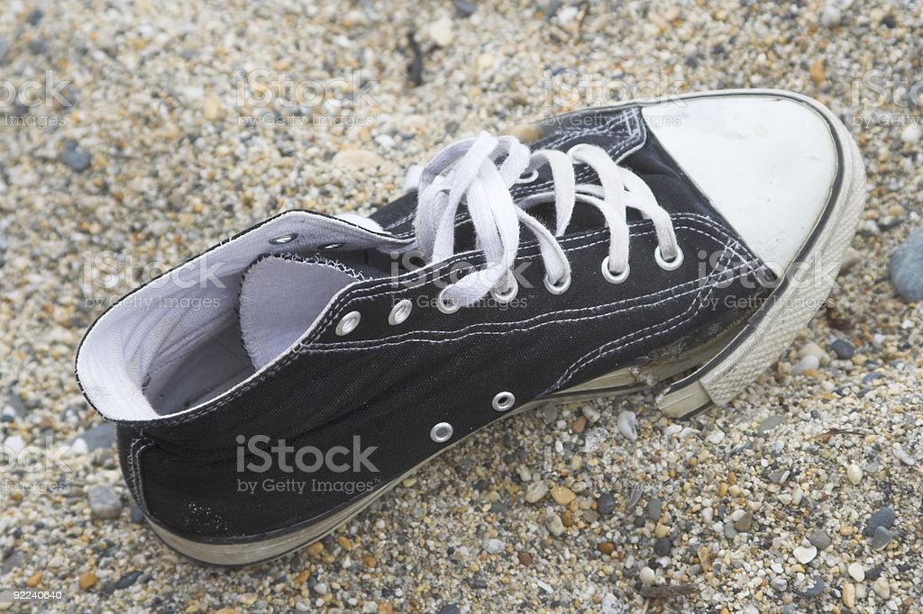 Worn Out Sneaker royalty-free stock photo