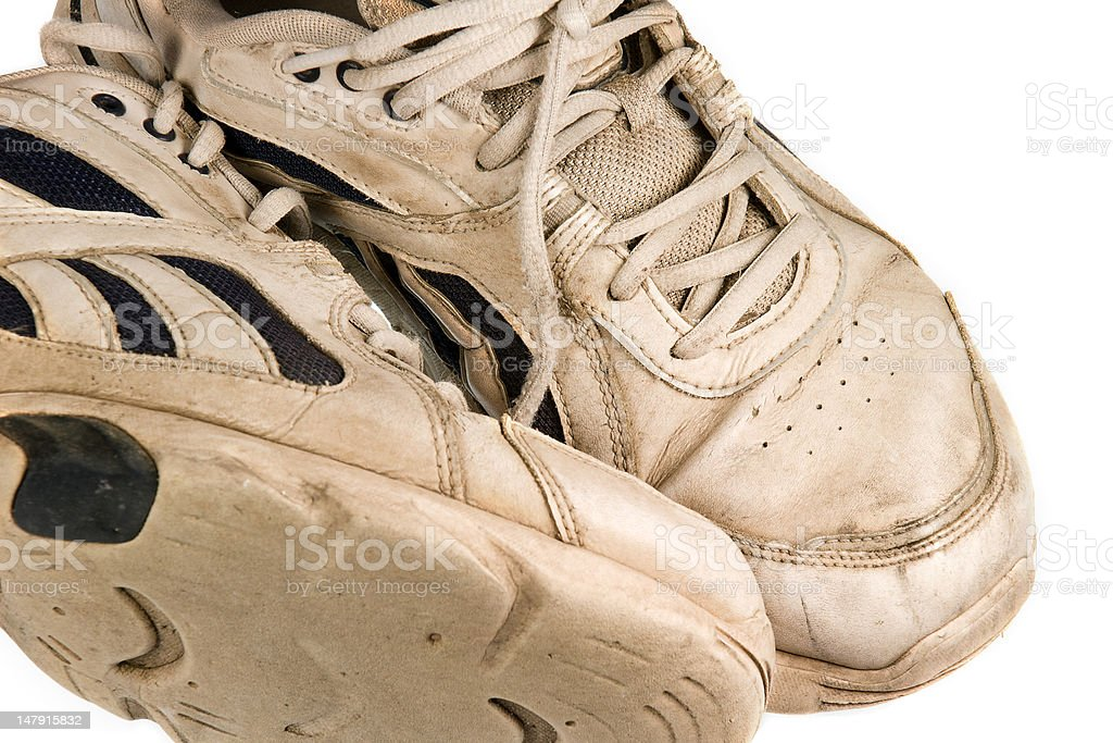 Worn Out Sneakers royalty-free stock photo