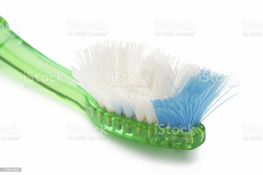 Worn out toothbrush royalty-free stock photo