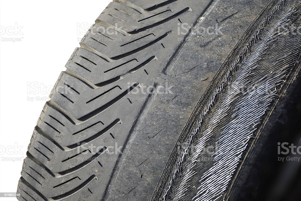 worn out tyre royalty-free stock photo