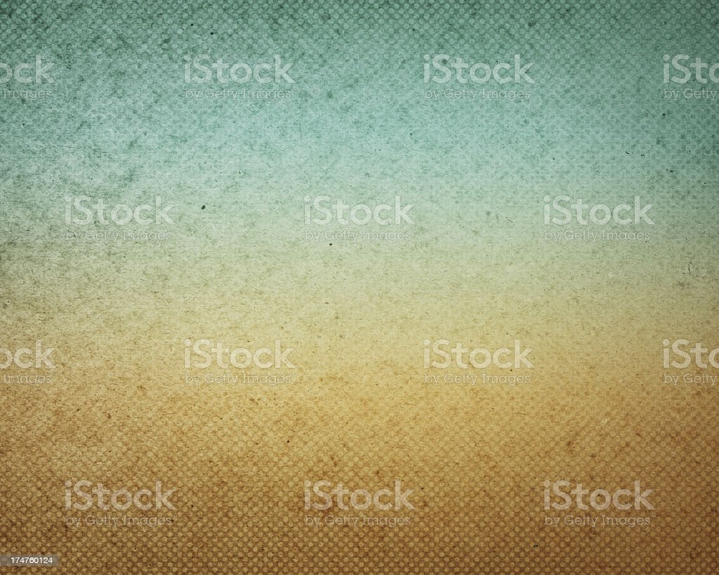 High resolution worn paper with color gradient and halftone vector art illustration