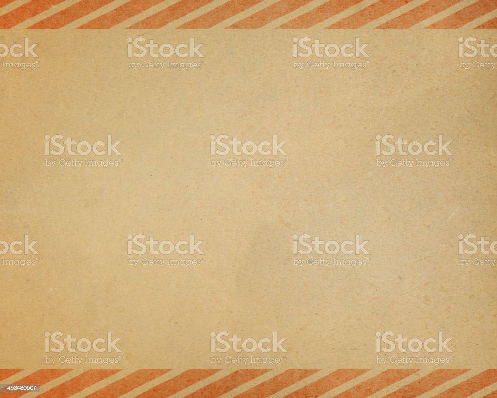 worn paper with stripe border pattern vector art illustration