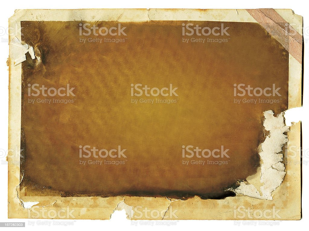 Worn Photo with Tape royalty-free stock photo