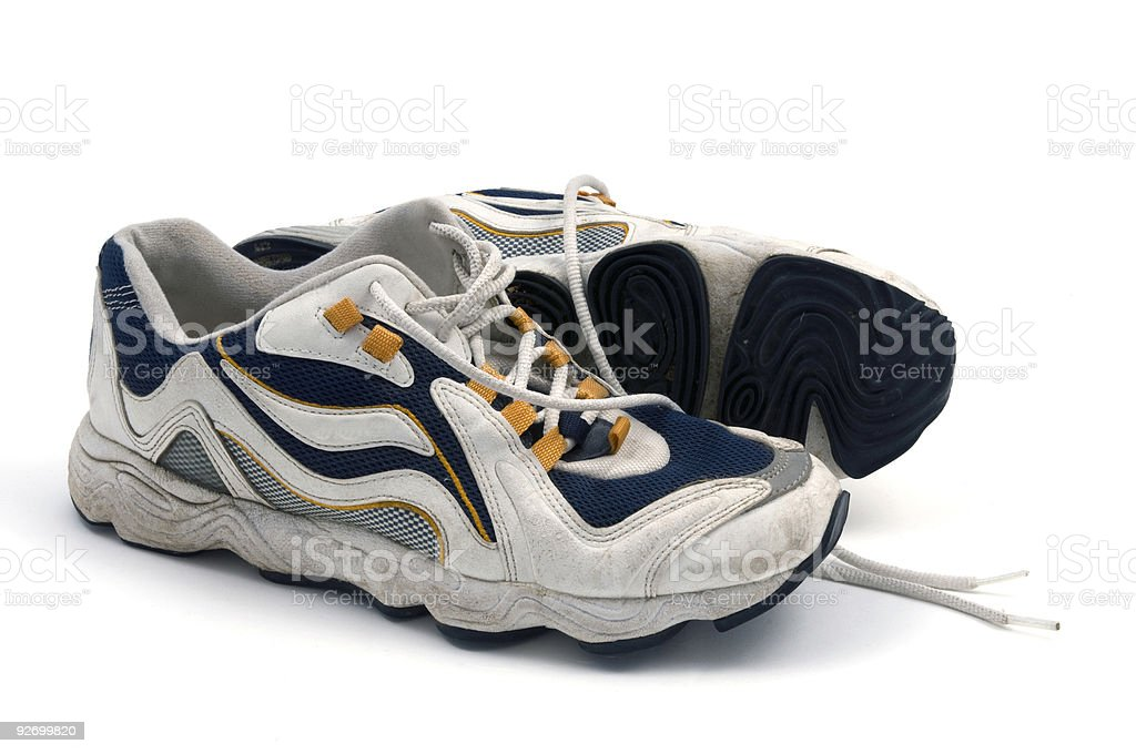 Worn Running Shoes royalty-free stock photo