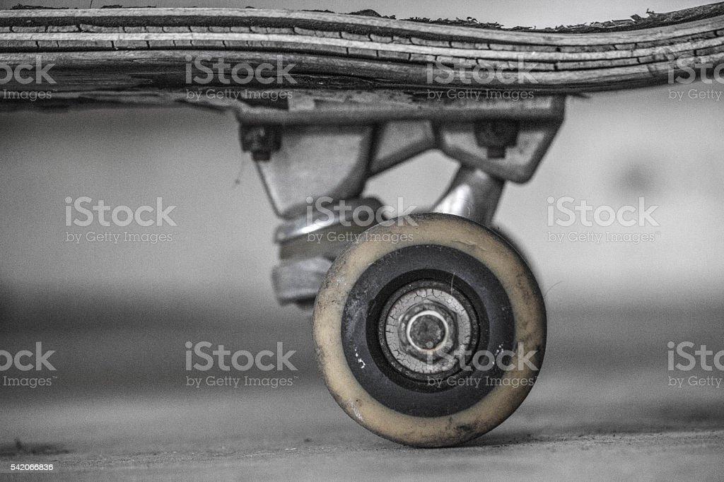 Worn Skateboard stock photo