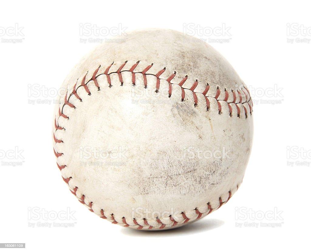 Worn Softball stock photo