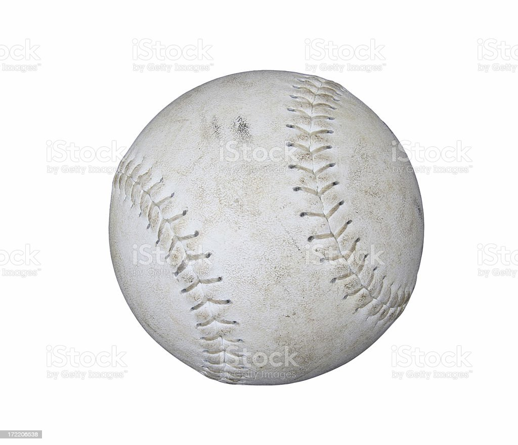 Worn Softball royalty-free stock photo