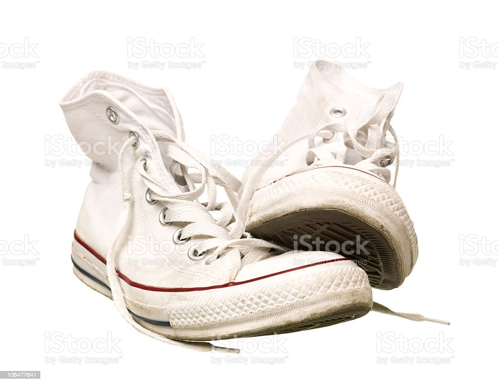 Worn Sport Shoes stock photo