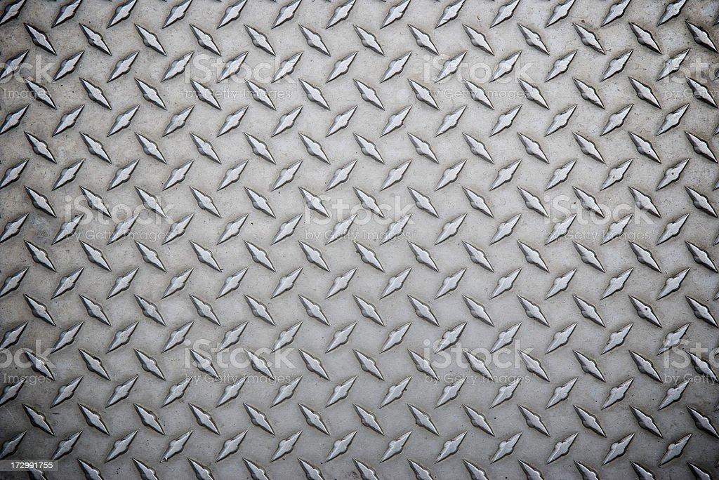 Worn Steel Diamond Tread Full Frame Background royalty-free stock photo