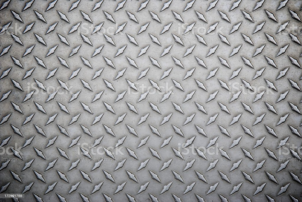 Worn Steel Diamond Tread Full Frame Background stock photo
