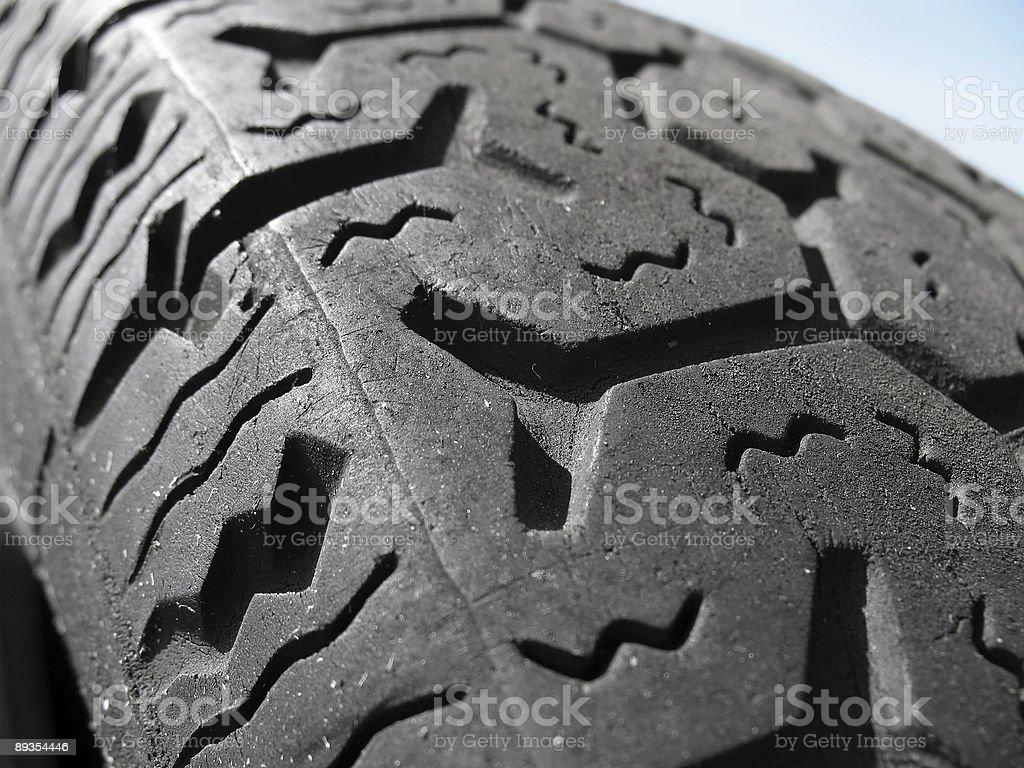 Worn tire stock photo