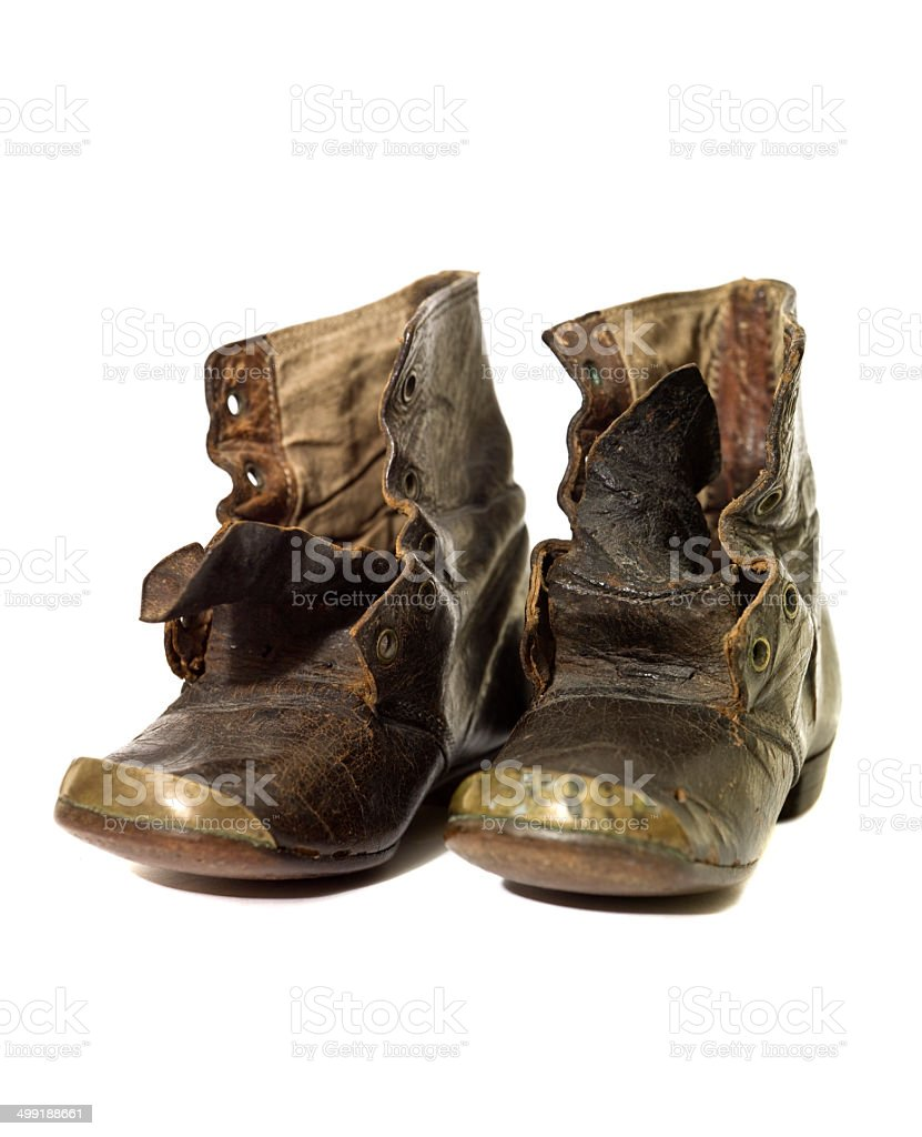 Worn vintage shoes royalty-free stock photo