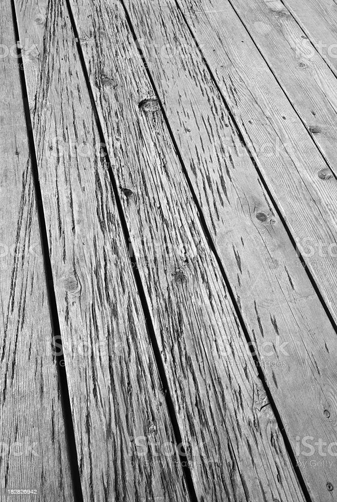 Worn Wood Deck stock photo