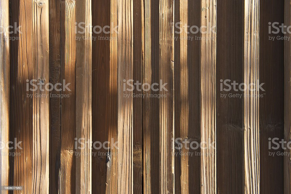 Worn Wooden Fence royalty-free stock photo