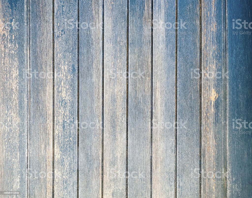 Worn wooden planks with blue tint royalty-free stock photo