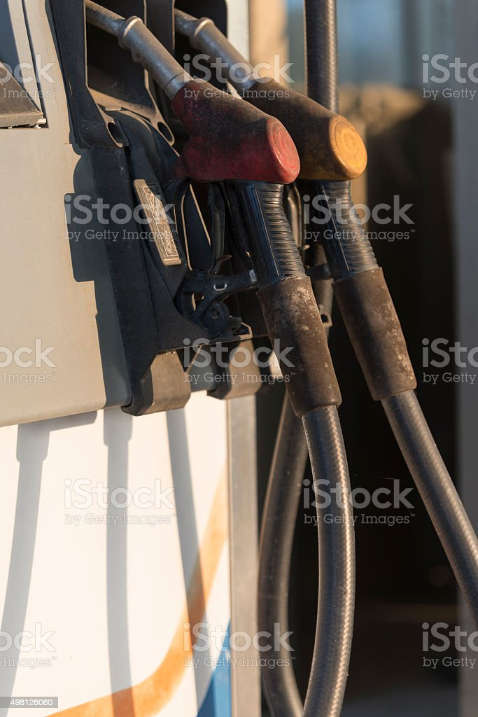 Worn-out Gasoline Pumps stock photo
