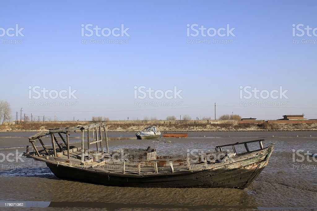 worn-out ships royalty-free stock photo