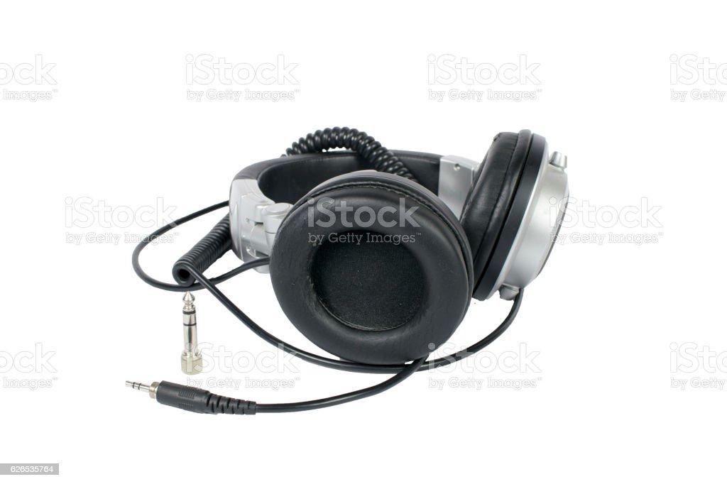 Worn-out Studio Headphones stock photo