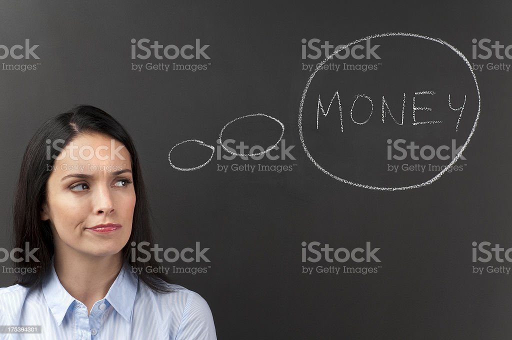 Worried about money royalty-free stock photo