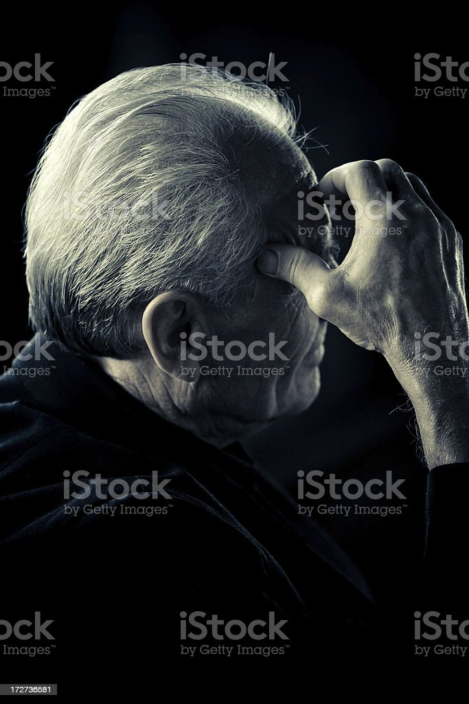 worried and alone stock photo