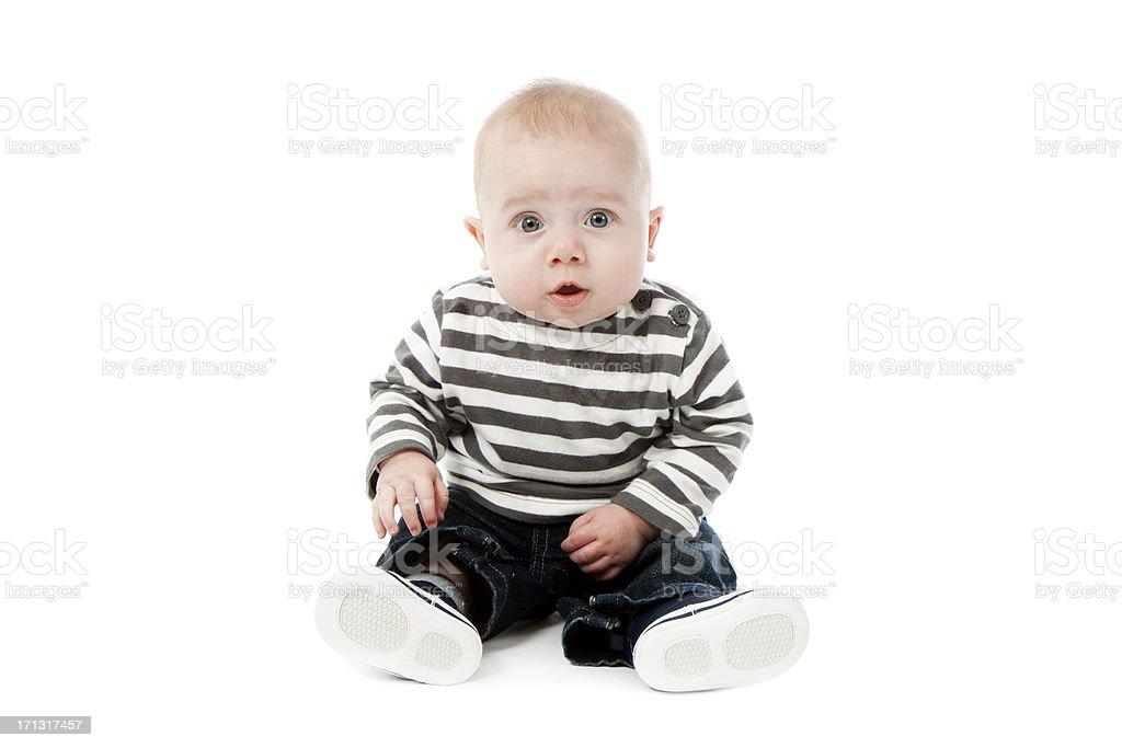 Worried Baby stock photo