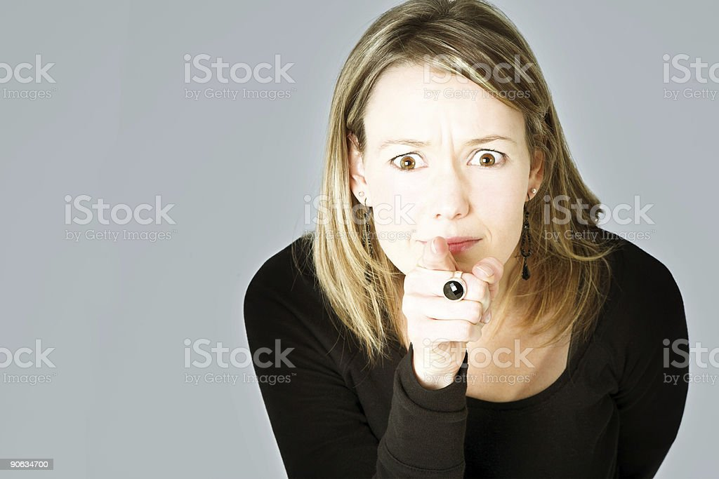 Worried blond royalty-free stock photo