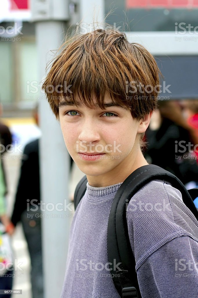 worried boy royalty-free stock photo