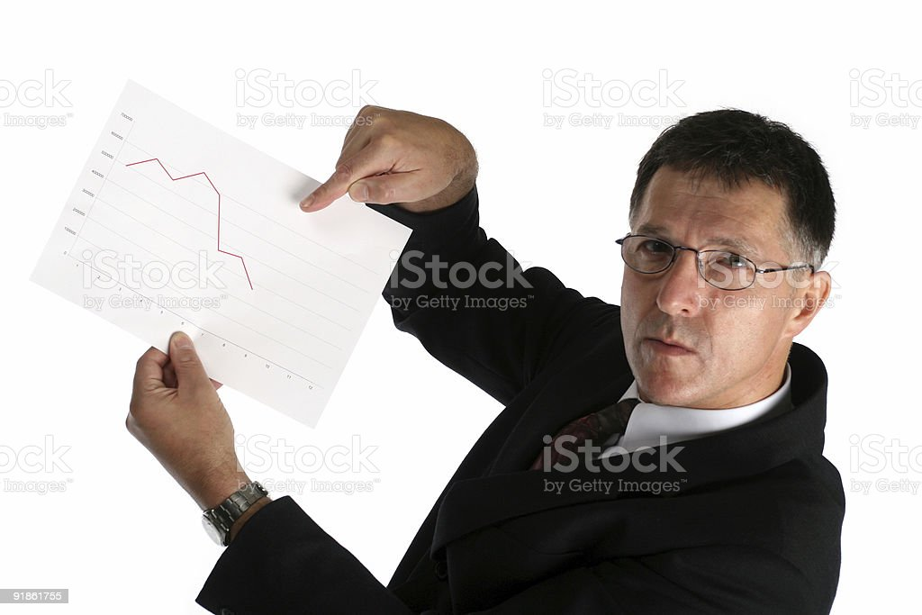 Worried buisness man stock photo