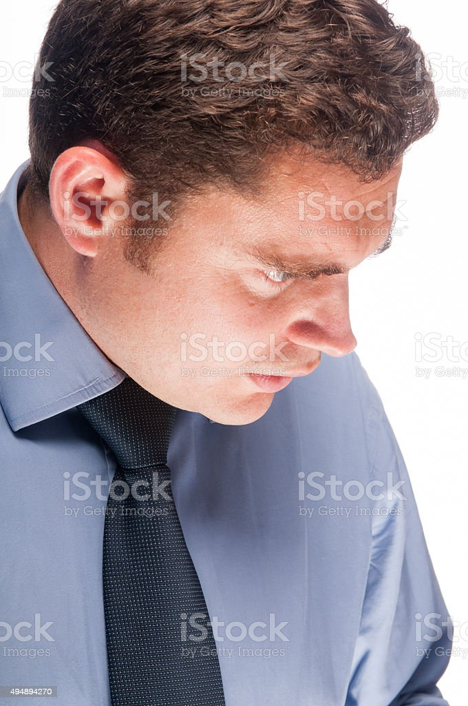 Worried Business Man stock photo
