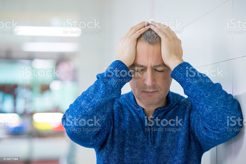 Worried Business - Senior Businessman stock photo