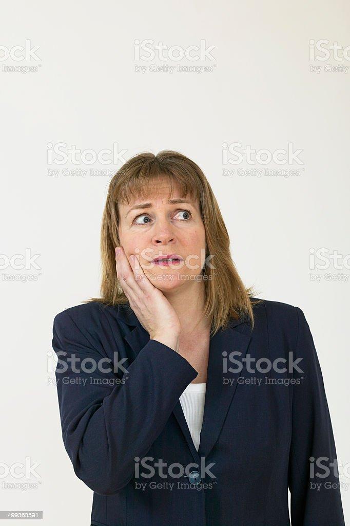 Femme d'affaires inquiet photo libre de droits