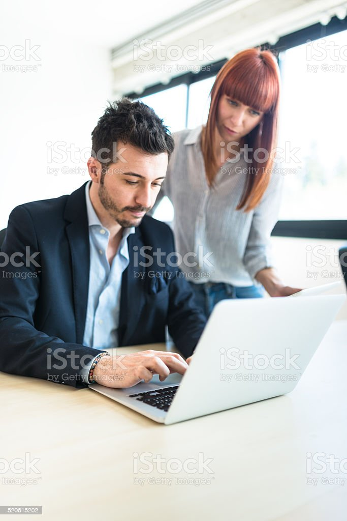 worried businessman at work stock photo