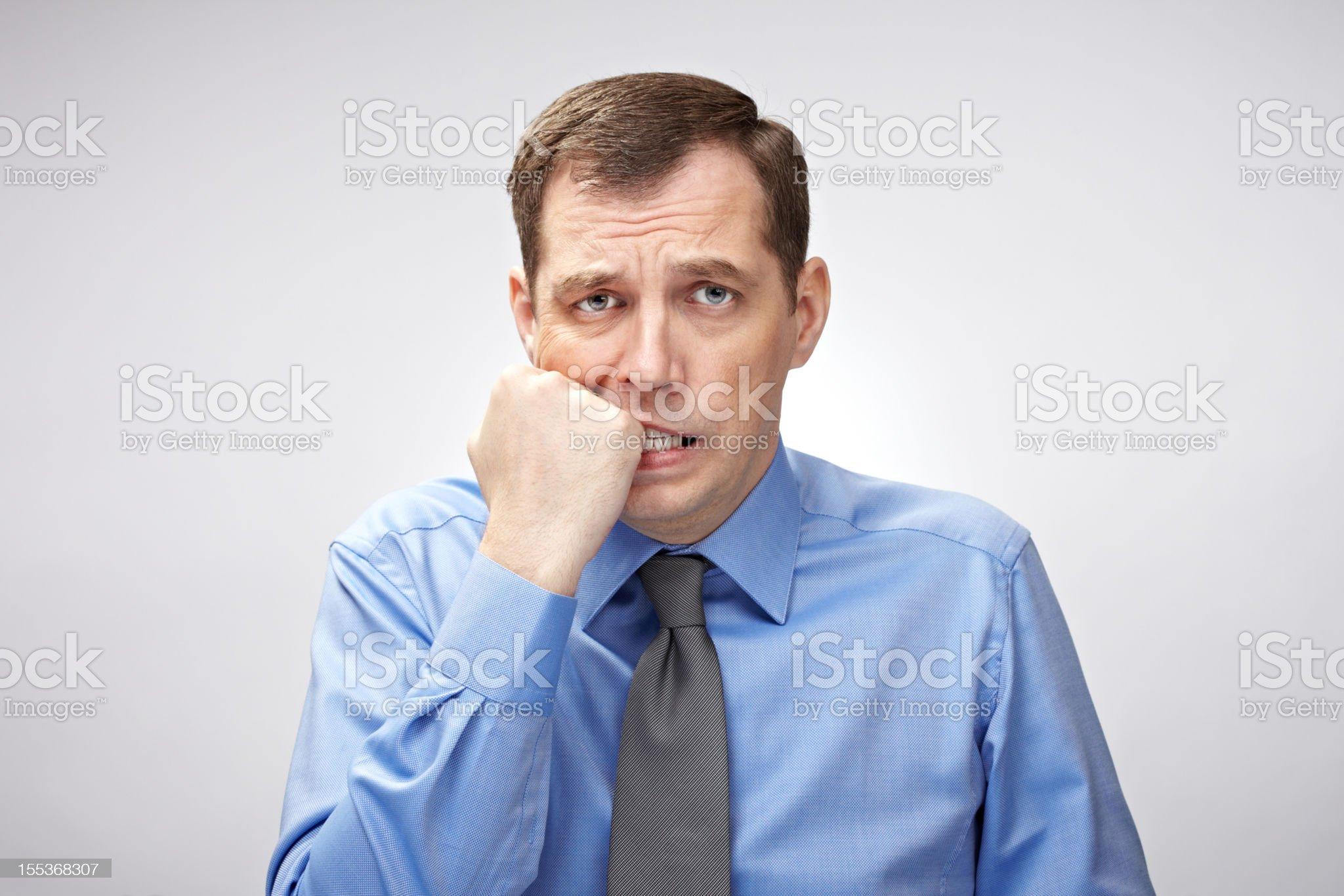 Worried businessman royalty-free stock photo