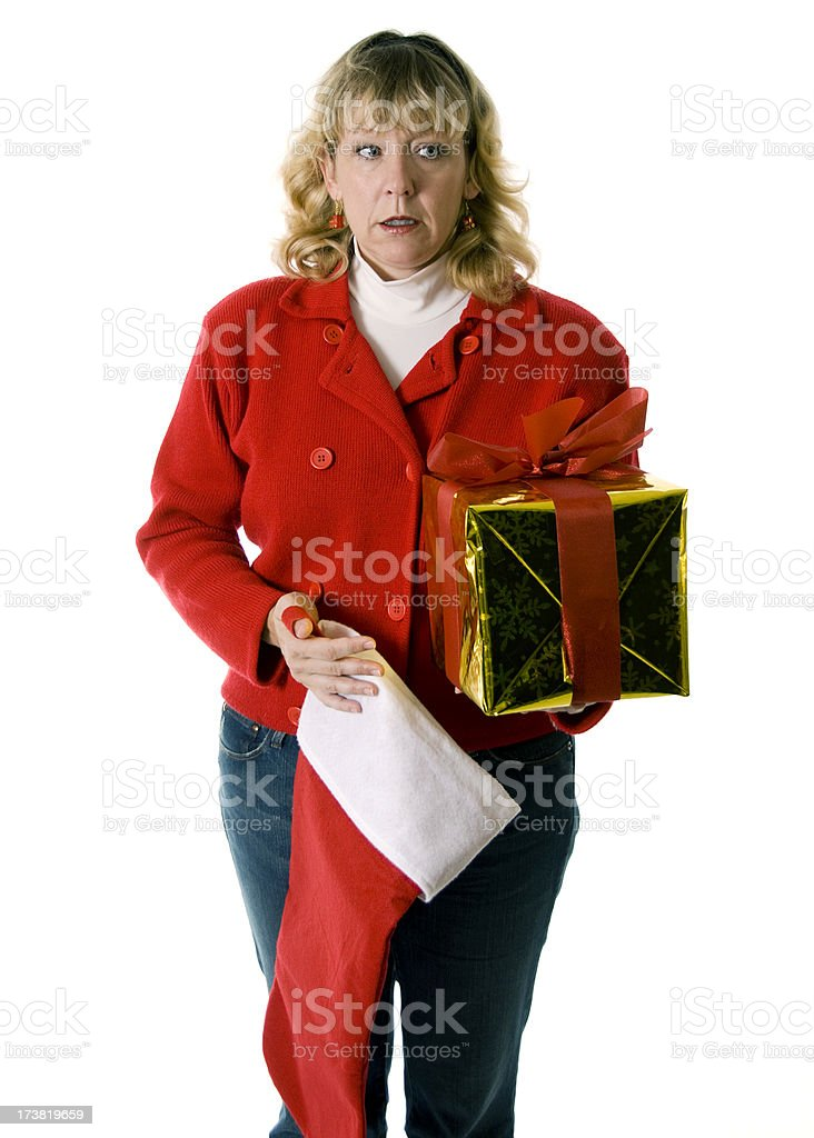 Worried Christmas royalty-free stock photo