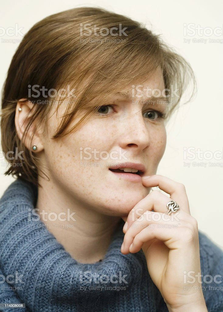 Worried girl royalty-free stock photo