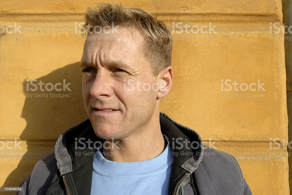 Worried House Painter royalty-free stock photo