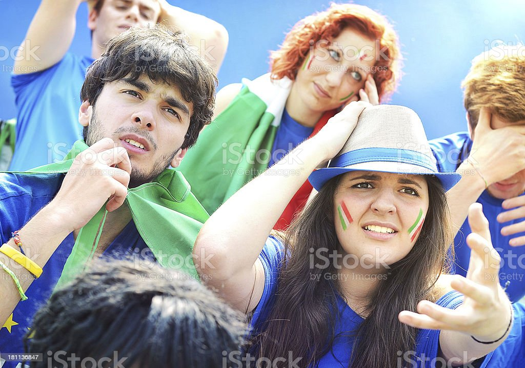 Worried Italian Fans royalty-free stock photo
