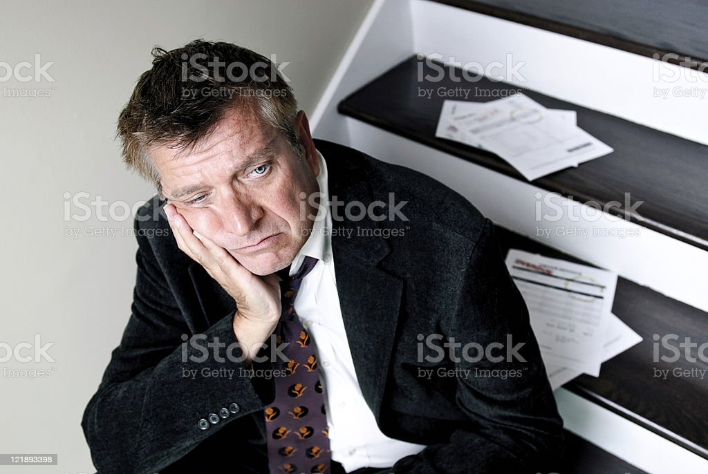Worried Man royalty-free stock photo