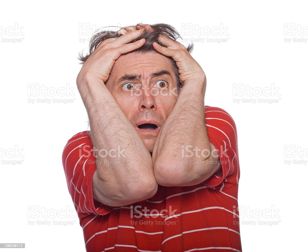 worried man royalty-free stock photo