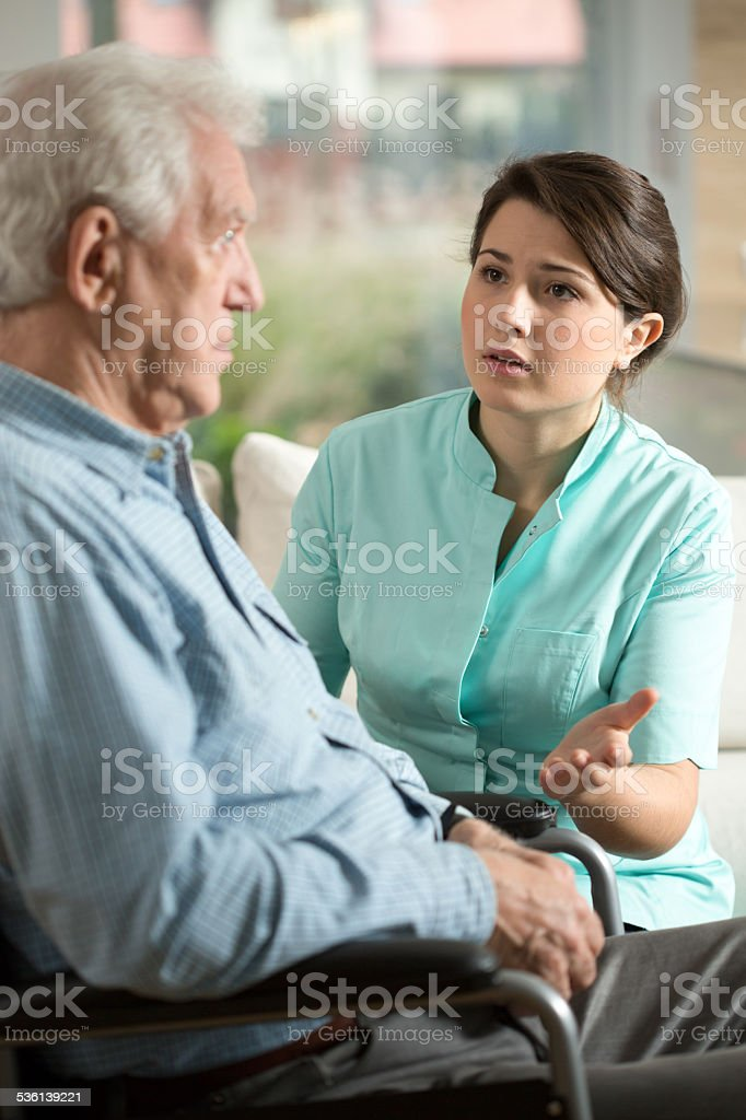 Worried nurse stock photo