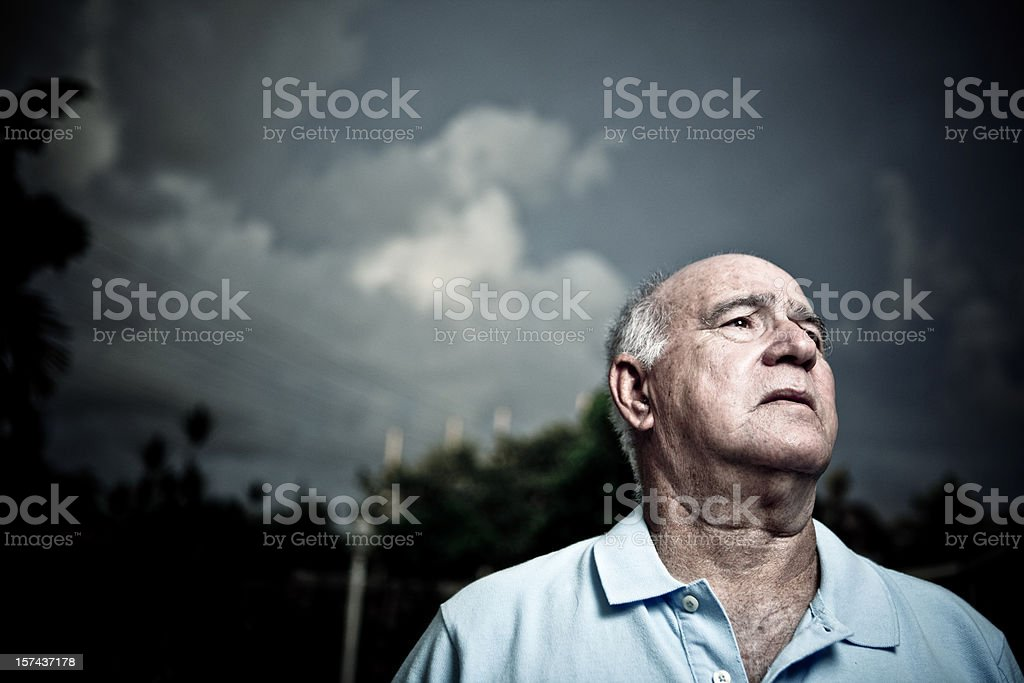 worried old man royalty-free stock photo
