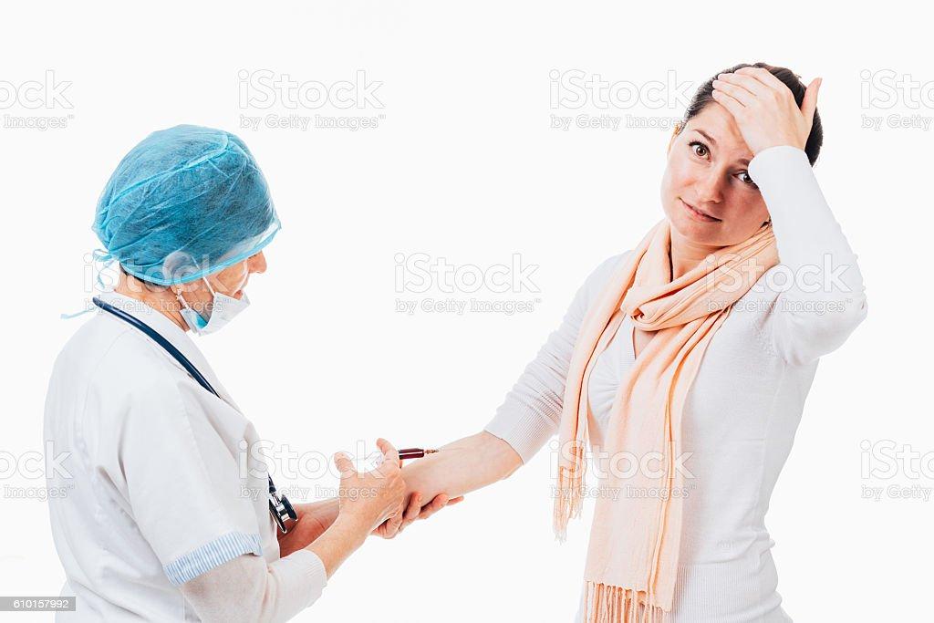 Worried patient stock photo