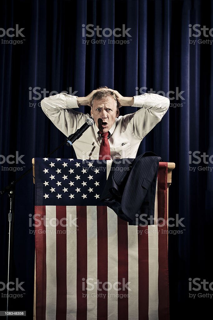 Worried Politician stock photo